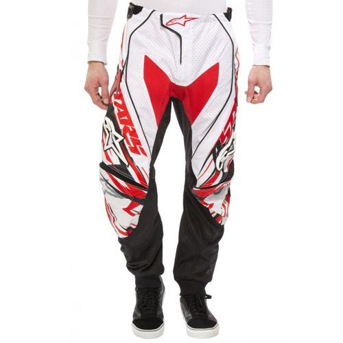 Alpinestars Techstar Pantalon Downhill Homme blanc/noir pas cher