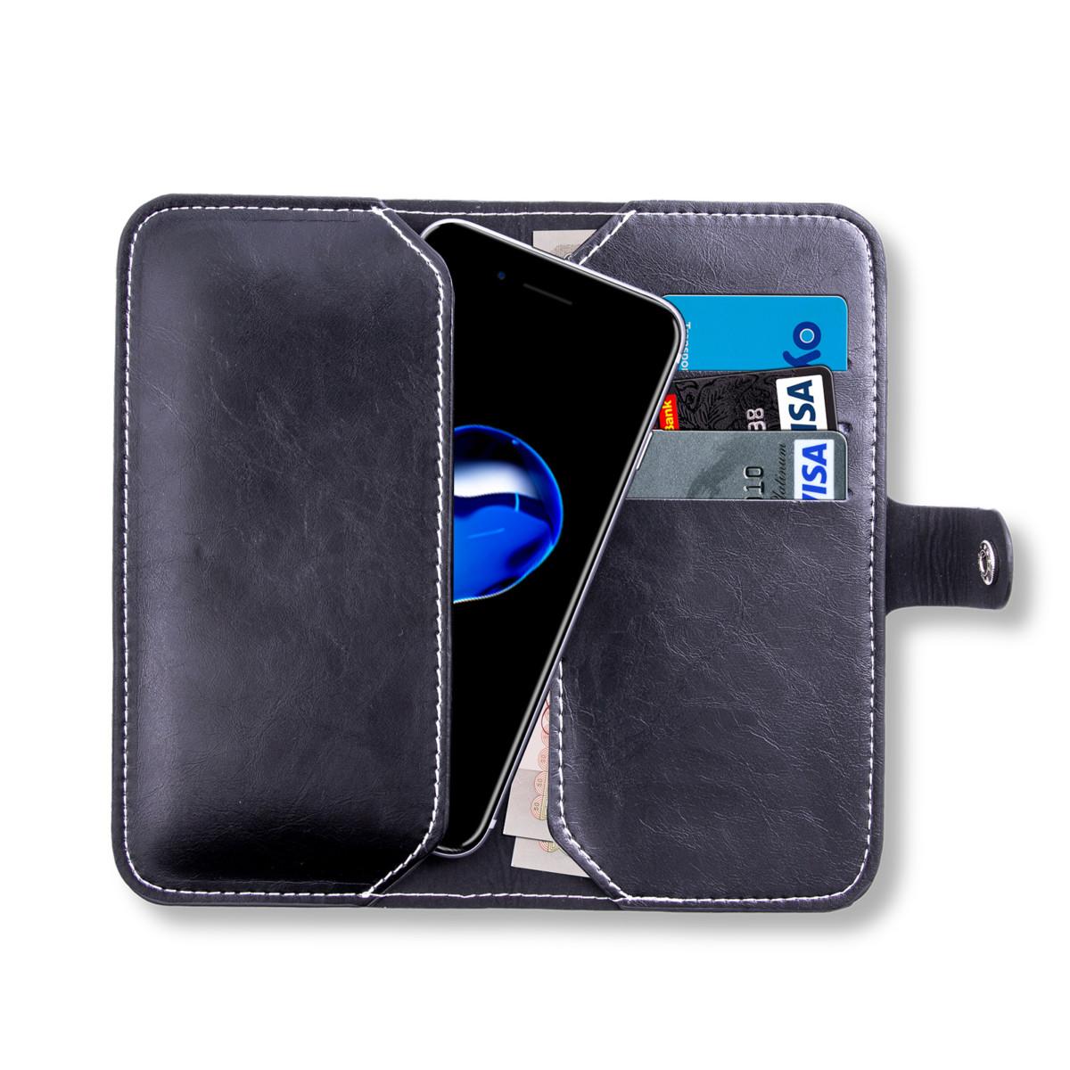 Housse Pour Téléphone Portable Portefeuille Porte Feuille En Cuir