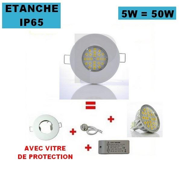 Spot led ip65 topiwall - Spot etanche salle de bain ...