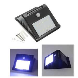 Etanche 8 LED Solaire Lampe Murale PIR Mouvement Detecteur Exterieur