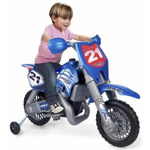 MOTO SCOOTER FEBER Moto Electrique Enfant X Cross 6 Volts avec