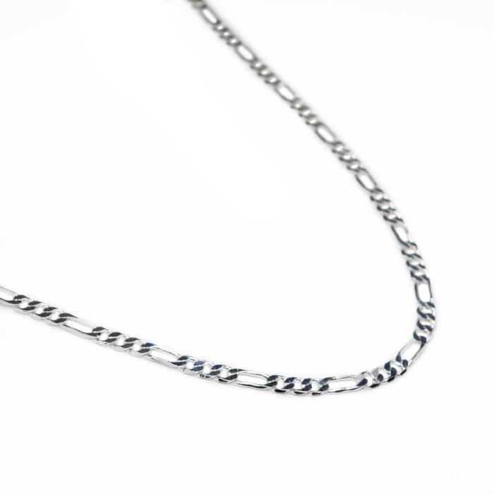 Chaine homme Argent FigaroLongueur : 60,6 cm Largeur : 0,4 cm *Argent