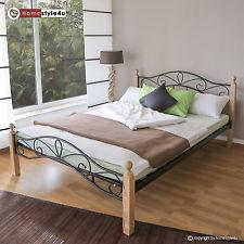 lit double 140 x 200 cadre de lit lattes bois neuf 920 noir naturel