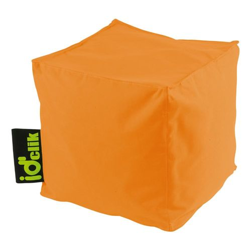 Id'clik Pouf carré Peps Orange pas cher Achat / Vente Poufs