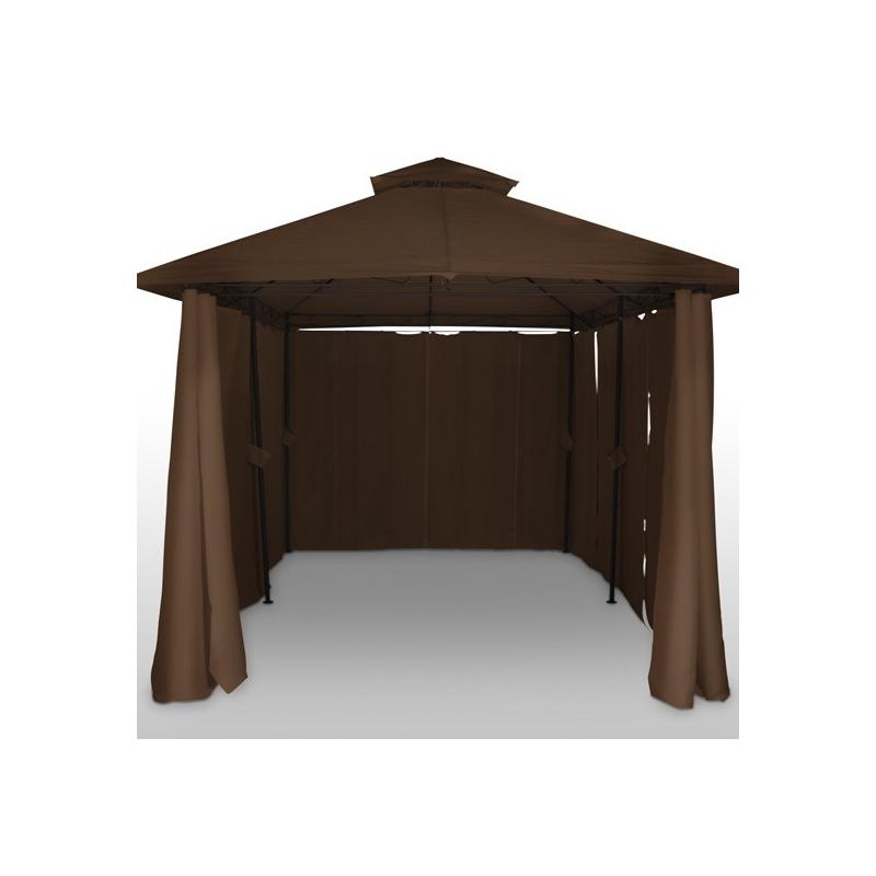 Tonnelle De Jardin Pavillon Barnum Métal 4×3 Marron 2201015 pas cher