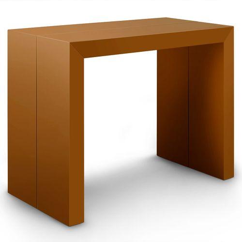 Table Console Nassau Xl Gris satiné 100cm x 75cm x 100cm Extensible