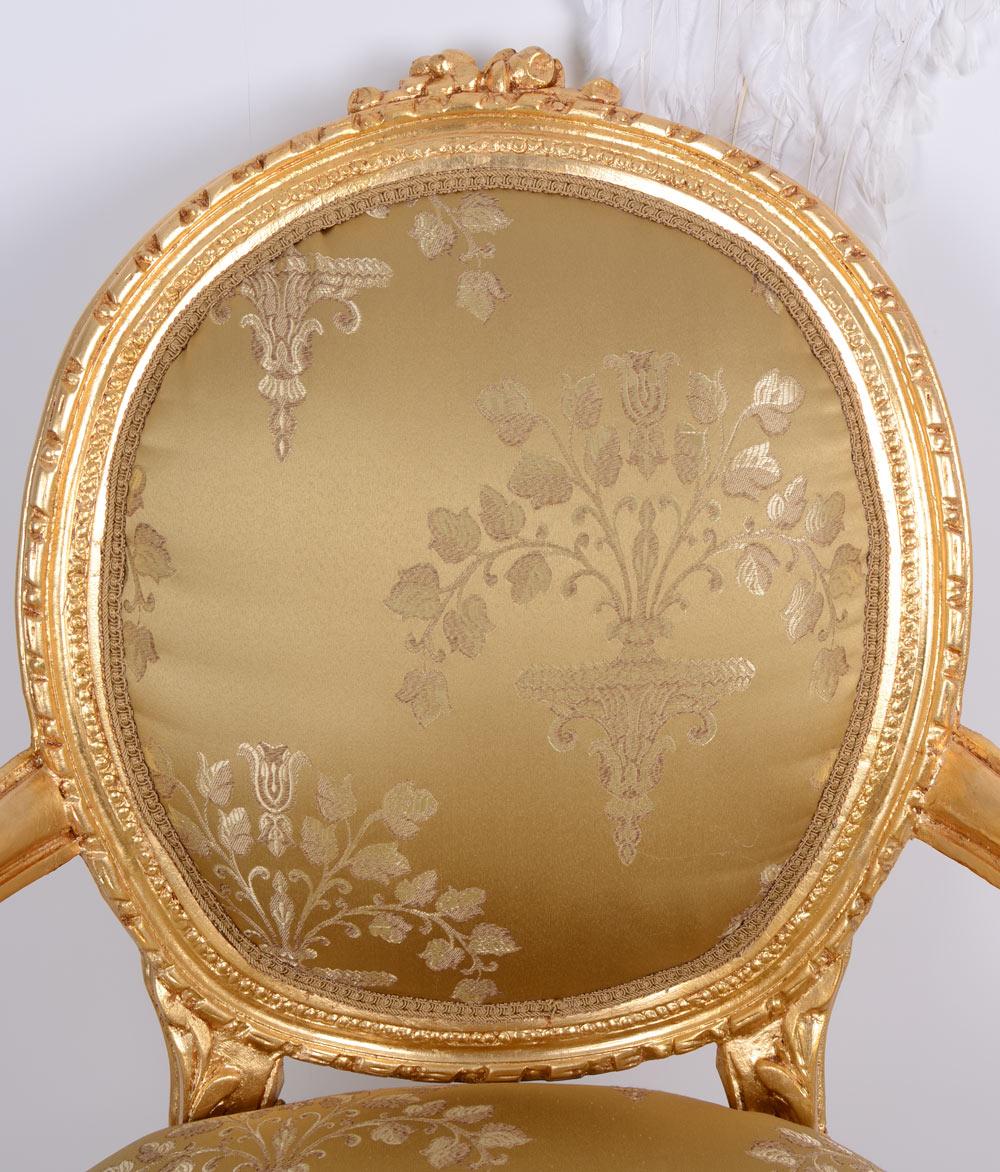 Fauteuil Rococo Médaillon Chaise Versailles Chaise Antique Baroque