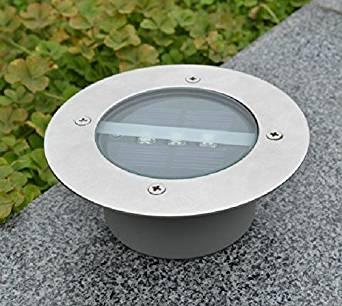 LEDs en acier Inoxydable Lumière Spot Solaire LED Encastrable