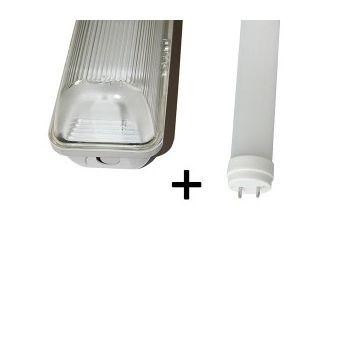 Ampoules Tubes et néons VTAC Kit tube led 120cm 4500K + boitier