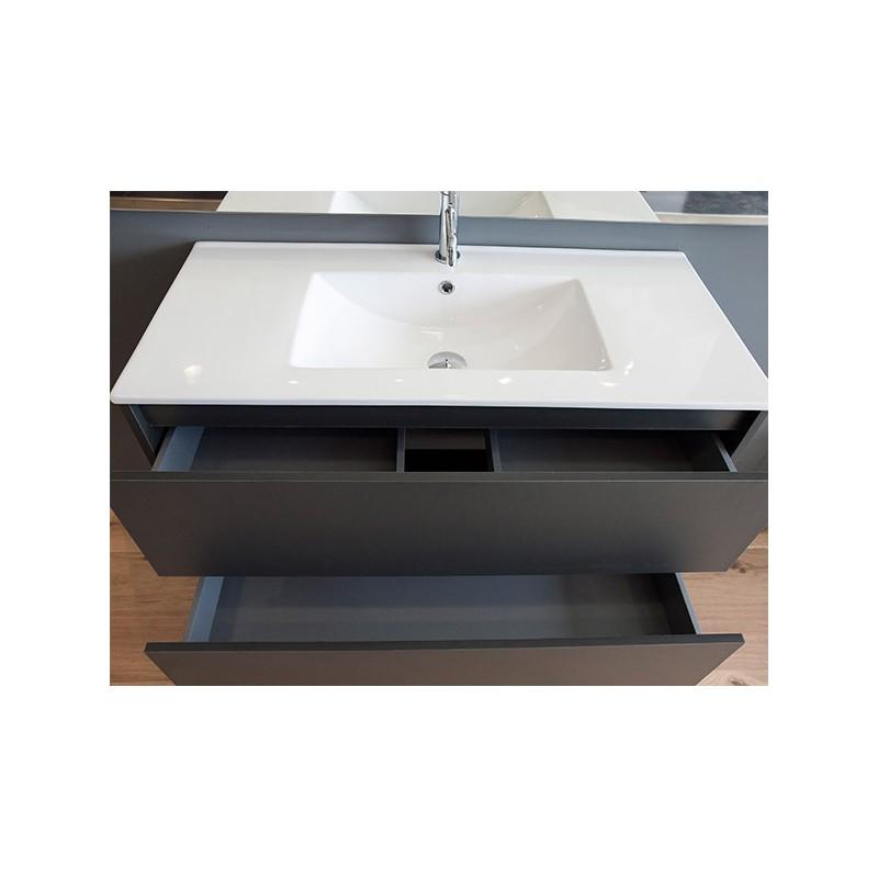 Meuble sous evier 90 cm topiwall for Meuble salle de bain avec evier