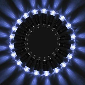BALLON DÉCORATIF 15pcs LED Ballons Lumineux BLANC pour Fêtes Soirée