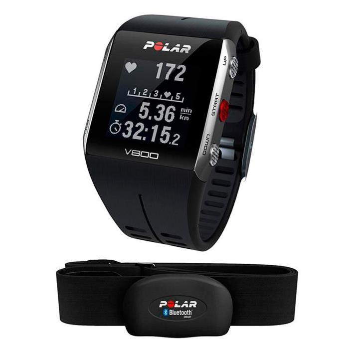 Polar V800 HR Cardiofréquencemètre gris/noir Alimentation: bis