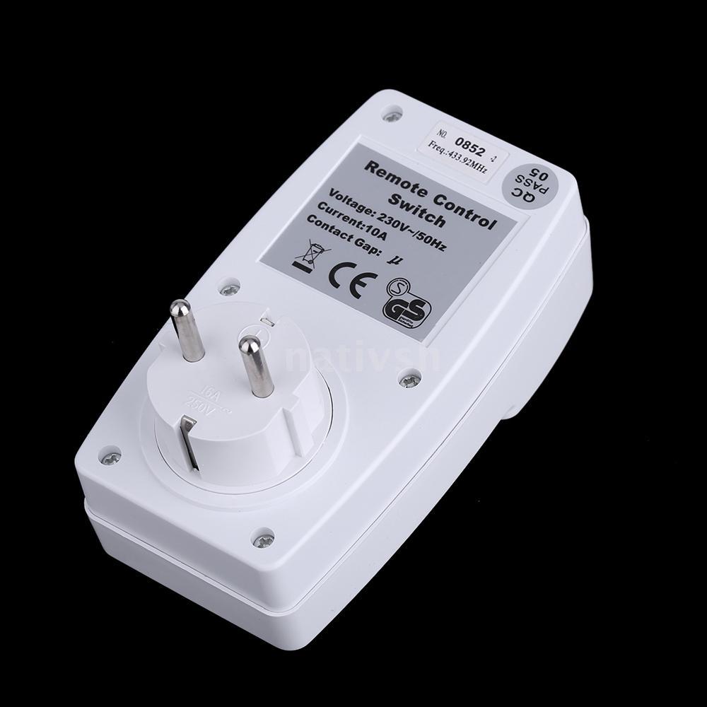Télécommande sans fil Prise de courant Douille interrupteur Set