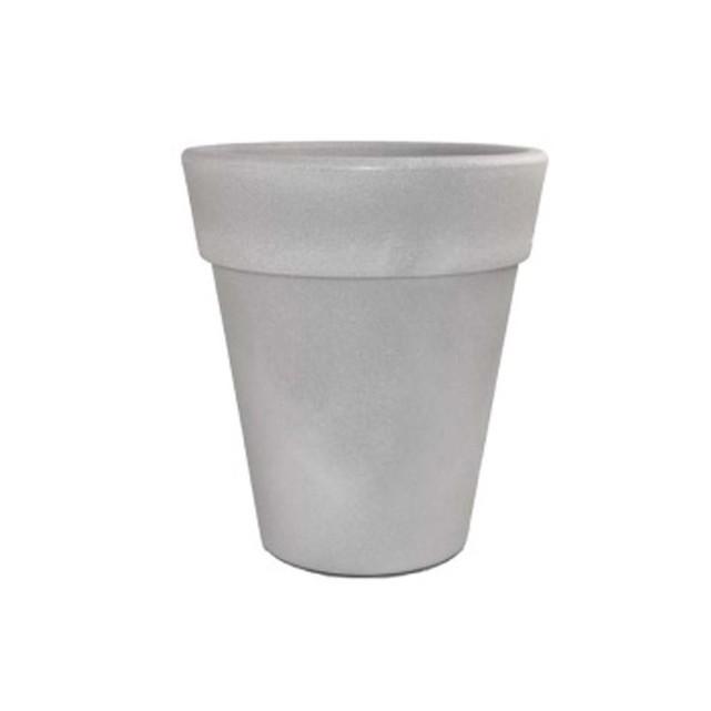 Pot pour fleurs «omega» gris ciment ø 45 cm H&j habitat et jardin