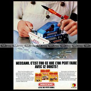 MECCANO Espace SPACE 2501 1982 Pub / Publicité / Original Advert Ad