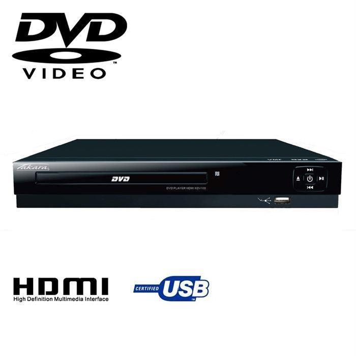 TAKARA KDV100 Lecteur DVD HDMI noir lecteur hd dvd, prix pas cher
