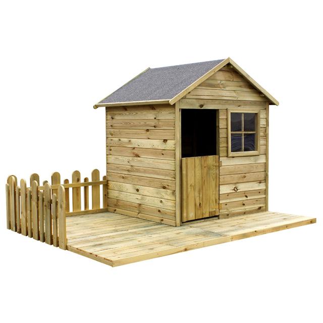 Maisonnette en bois topiwall for Cabane de jardin en bois castorama