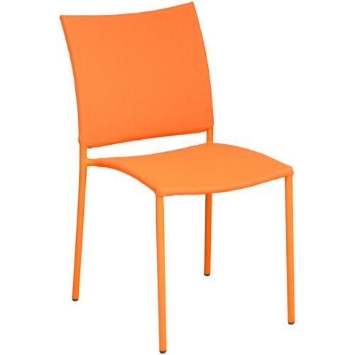 Proloisirs Chaise de jardin design Bonbon Lot de 6, Orange pas