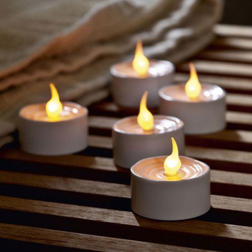 Sirius Lot de 12 bougies Led blanc forme chauffe plat diamètre 3