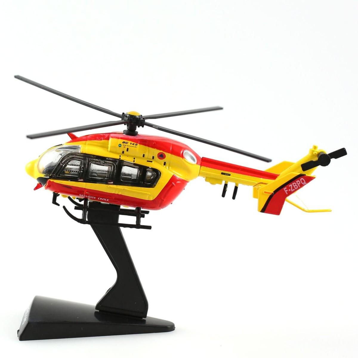Camions de pompiers du monde : Miniature Pompier ec145 1/90