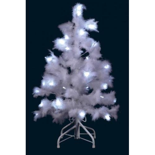 Déco Maison Petit sapin de Noël lumineux artificiel blanc pur