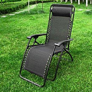 OGS08 Chaise longue bain de soleil, chaise de jardin, chaise de