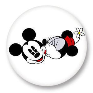Button Badge 25mm 1 034 Mickey Minnie Mouse Walt Disney Dessin Anime