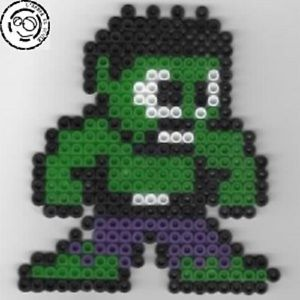 Hulk Bead sprite perler pixel art Perles a repasser