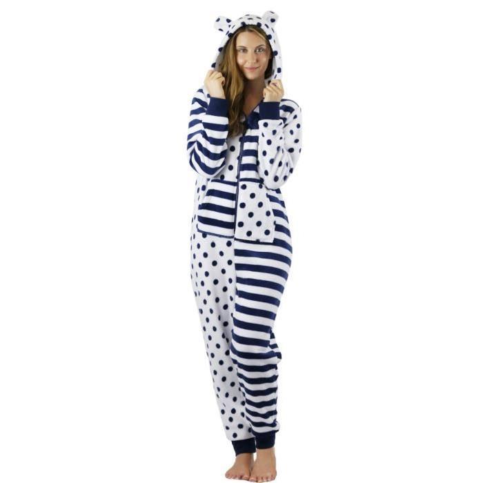 Grenouillère polaire avec capuche Femme pyjama Achat / Vente