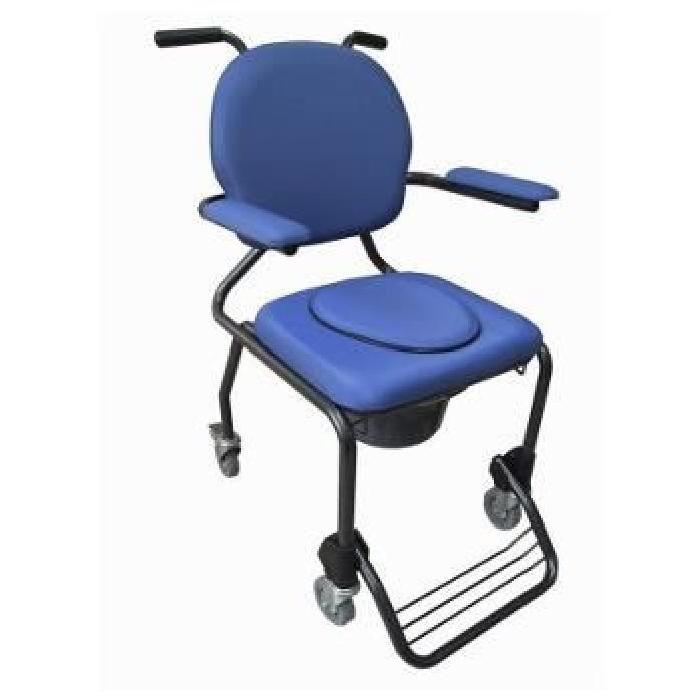 Chaise hygiénique avec roulettes La chaise hygiénique sur roues