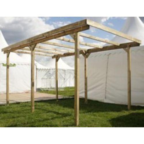 Chalet & Jardin Garage en bois avec toit Pvc Carport Imperia pas