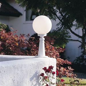 extérieur Design Boule Lampe de jardin Lampadaire Blanc 37459