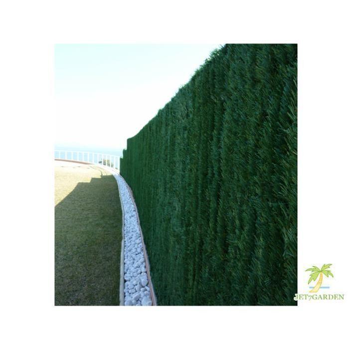 Haie artificielle végétale 126 brins en rouleau 18 m 3 x 1,80 m