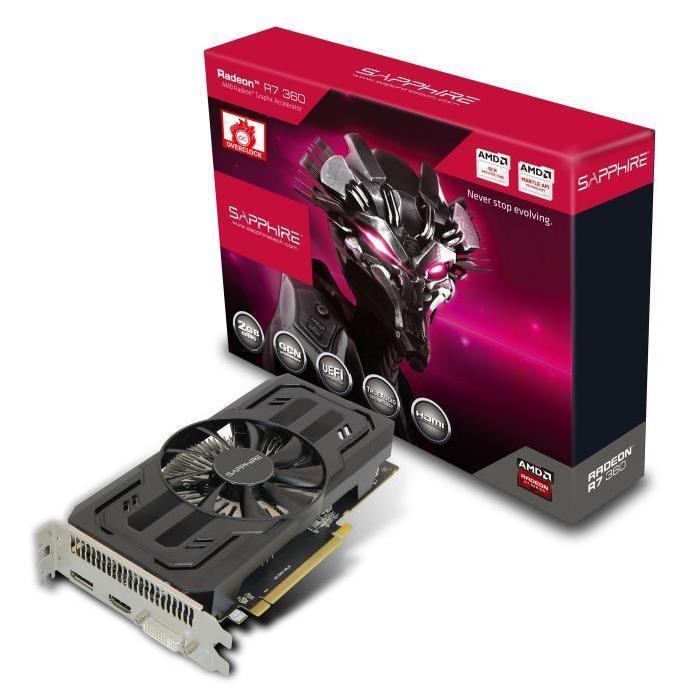 Sapphire R7 360 2Go DDR5 OC Prix pas cher Soldes* d?été