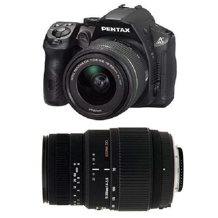 PENTAX K30 Noir + 18 55 AL WR + SIGMA 70 300 DG MACRO Cet appareil