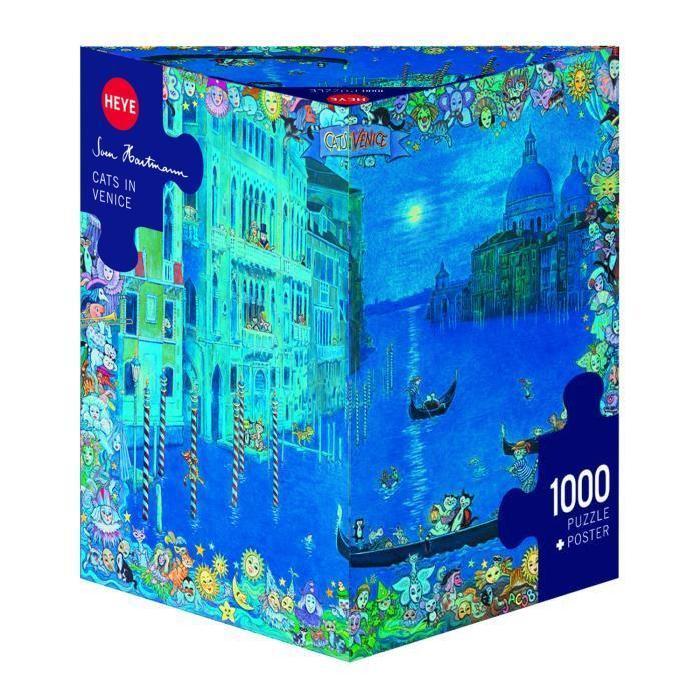 Puzzle 1000 pièces : Chat à Venise, Sven Hartmann Achat / Vente