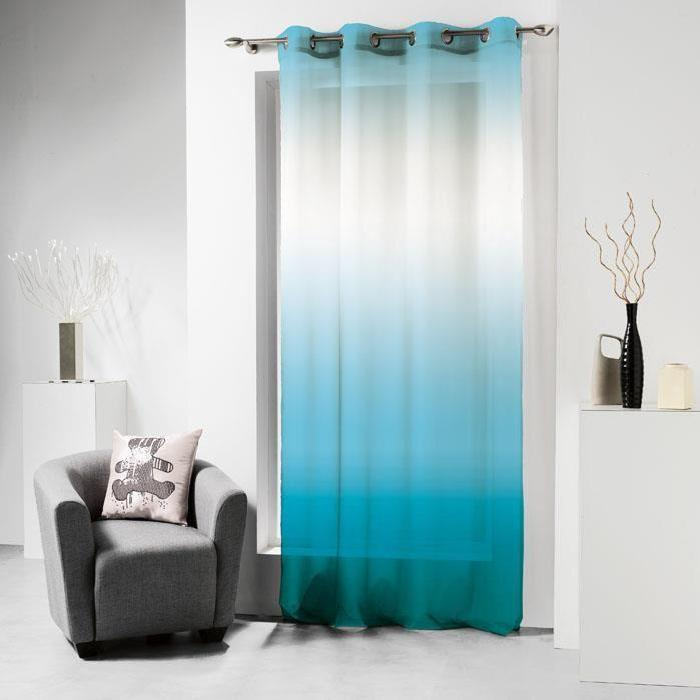 Voilage oeillets 140×240 LULU TIE AND DYE TURQUOISE Panneau voilage