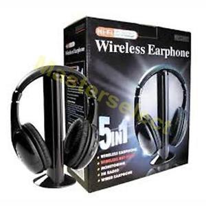 Casque Ecouteur audio sans fil pour TV tele television dvd avec radio