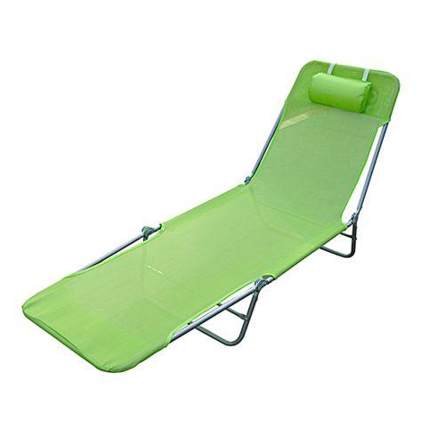 Soldes Homcom Chaise longue pliante bain de soleil inclinable transat