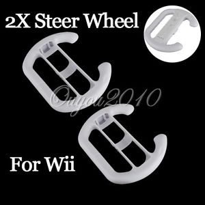 STEERING WHEEL Pour NINTENDO Wii MARIO KART RACING CONSOLE BLANC NEUF