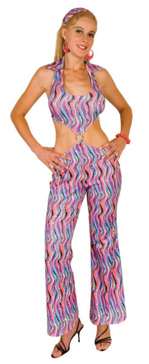 Déguisement disco bleuté femme taille M costume année 70 80 fete
