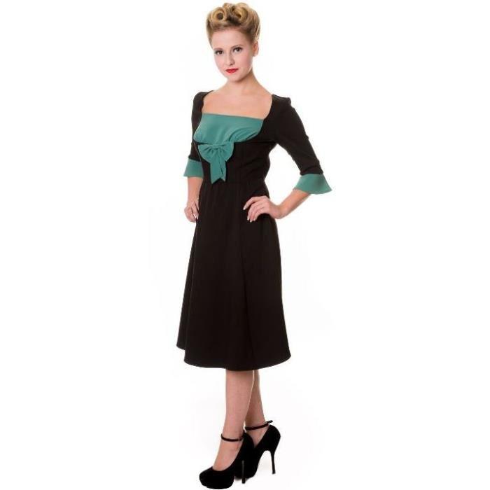 tailles Achat / Vente robe robe pin up noire et verte