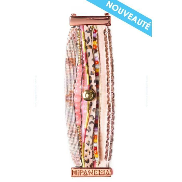 Bracelet Hipanema Manchette rose Flamingo T.S Manchette Hipanema