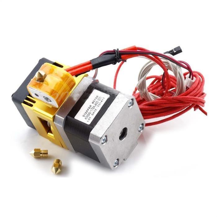 Extrudeuse Imprimante 3D MK8 Tête 0.4mm avec Buse 0,2 et 0,3 mm