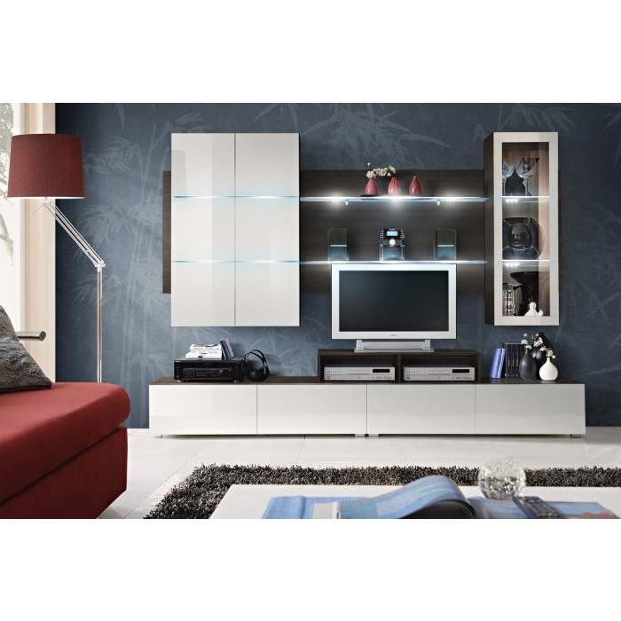 salon tv complet design CLIPS + LED Achat / Vente meuble tv Meuble