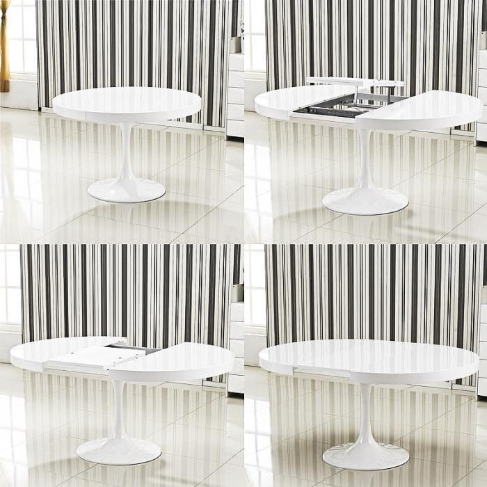 Table ronde extensible Angie blanc Achat / Vente table a manger