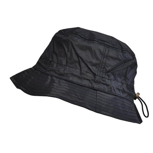 Bob de pluie imperméable en nylon ajustable noir noir Toutacoo | La