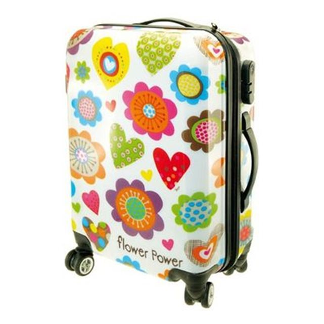 Valise trolley cabine Flower Power INCIDENCE (Couleur Unique