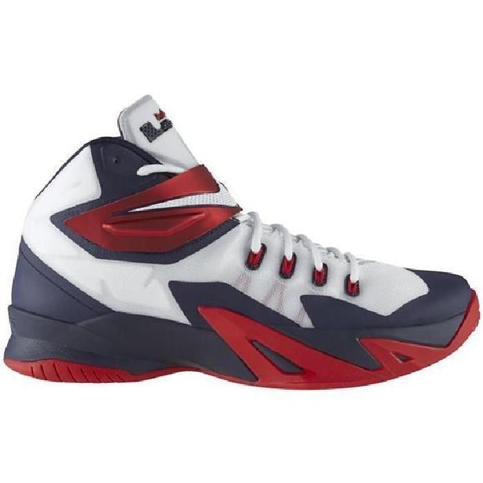 Chaussures de basket ball avec tige en synthétique, noir, rouge et