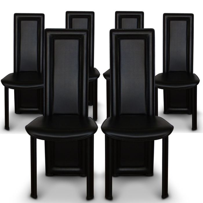chaise salle a manger lot de 6 topiwall. Black Bedroom Furniture Sets. Home Design Ideas